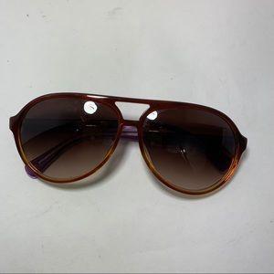 Coach plastic frame aviator sunglasses brown